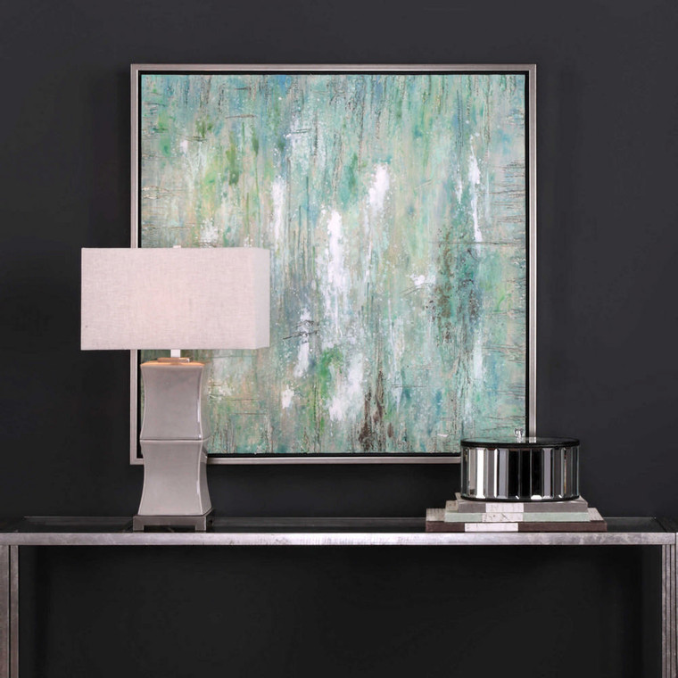 Flowing Along Hand Painted Canvas by Uttermost