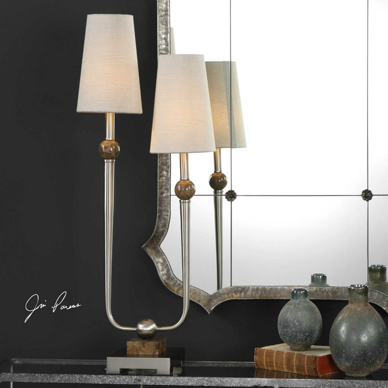 Claret Accent Lamp by Uttermost