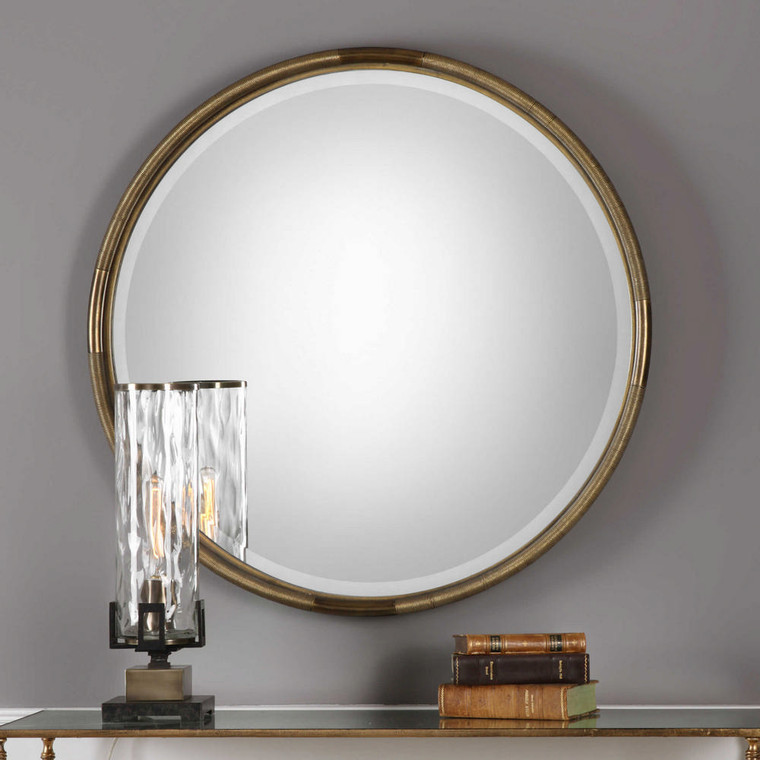 Finnick Round Mirror by Uttermost
