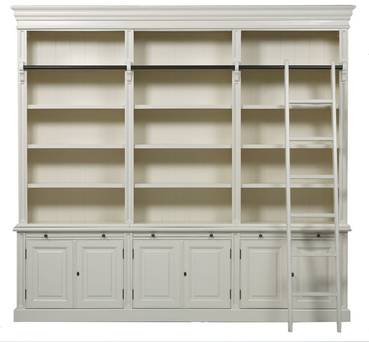 Bella House Classic 6 Door Bookcase + Ladder