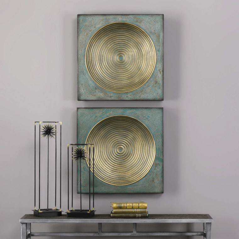Sybil Metal Wall Decor S/2 by Uttermost