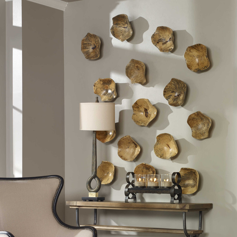 Tamarine Wood Wall Decor S/3 by Uttermost