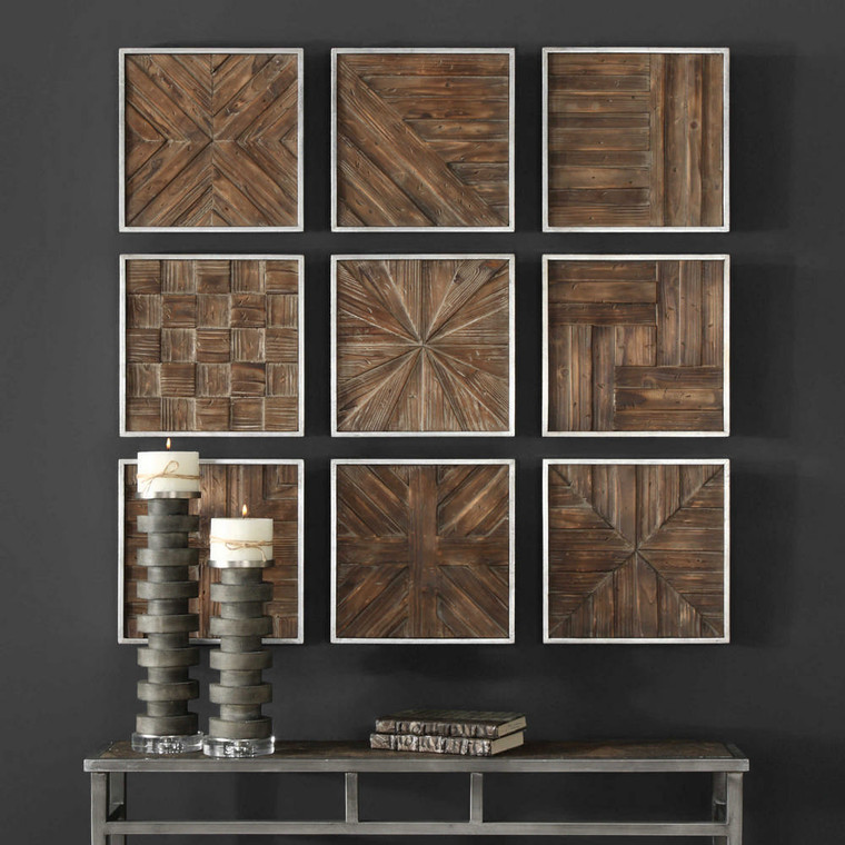 Bryndle Squares Metal Wall Decor S/9 by Uttermost