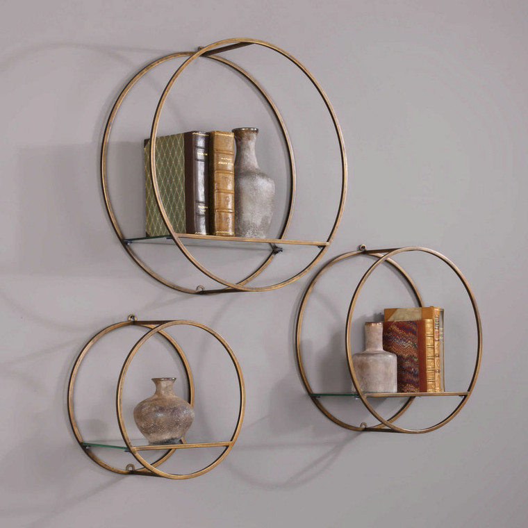 Ellison Wall Shelves S/3 by Uttermost