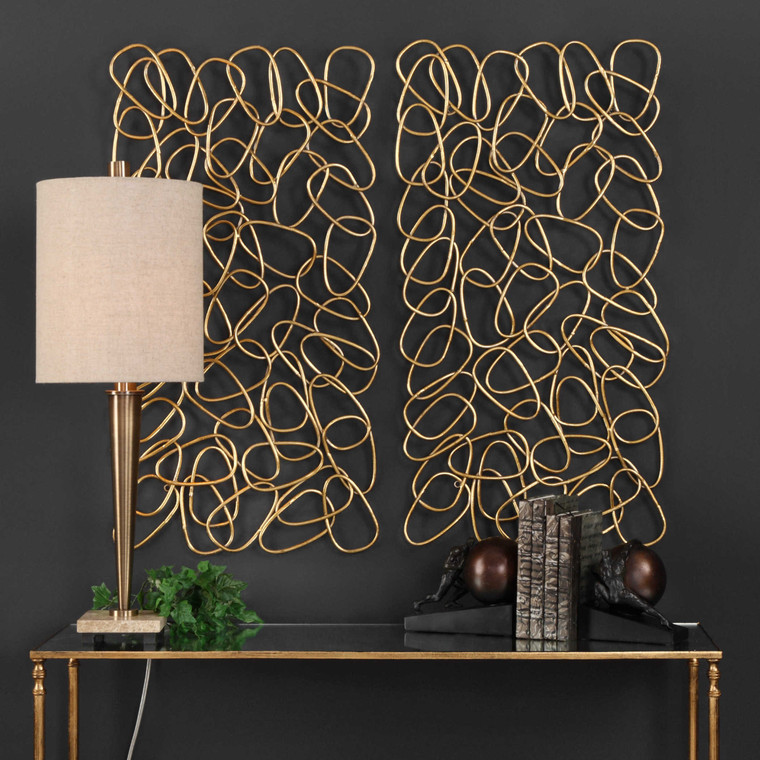 In the Loop Metal Wall Panels S/2 by Uttermost