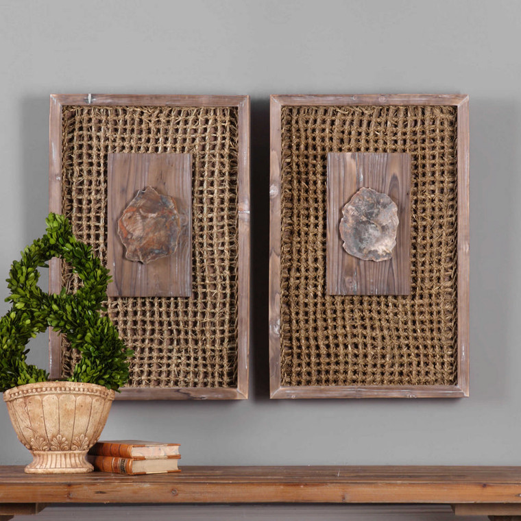 Endicott Wood Wall Decor S/2 by Uttermost