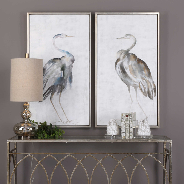 Summer Birds Hand Painted Canvases S/2 by Uttermost