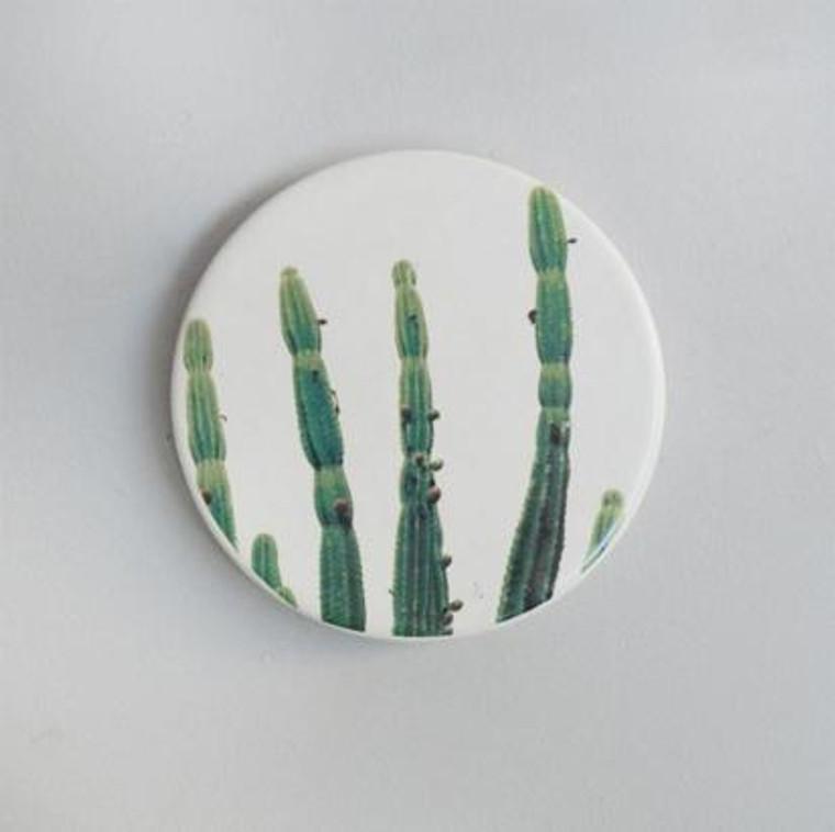 Printed Cactus Ceramic Coaster Set of 4