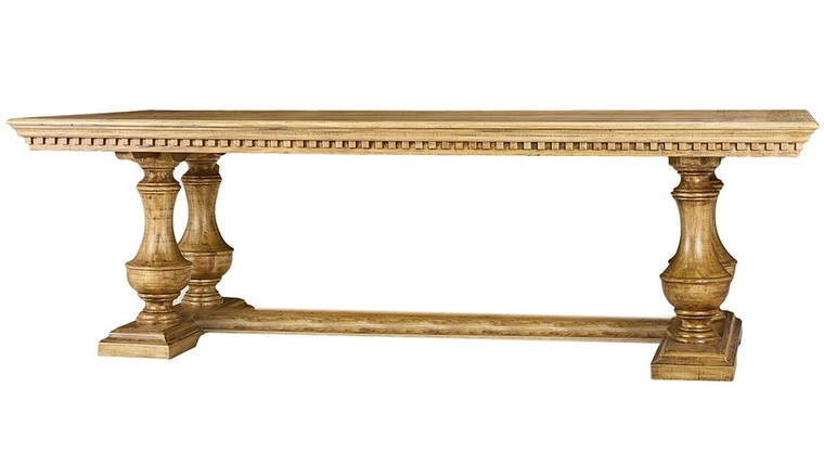 Alexander Dining Table 210cm - Size: 76H x 214W x 102D (cm)