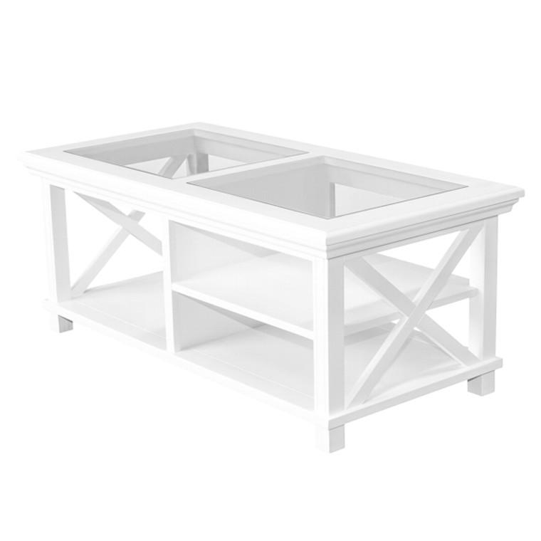 Hamptons Cross Coffee Table - White