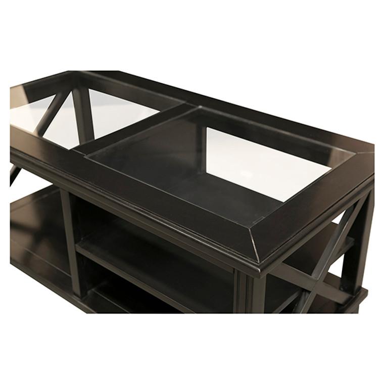Hamptons Cross Sorrento Coffee Table - Black
