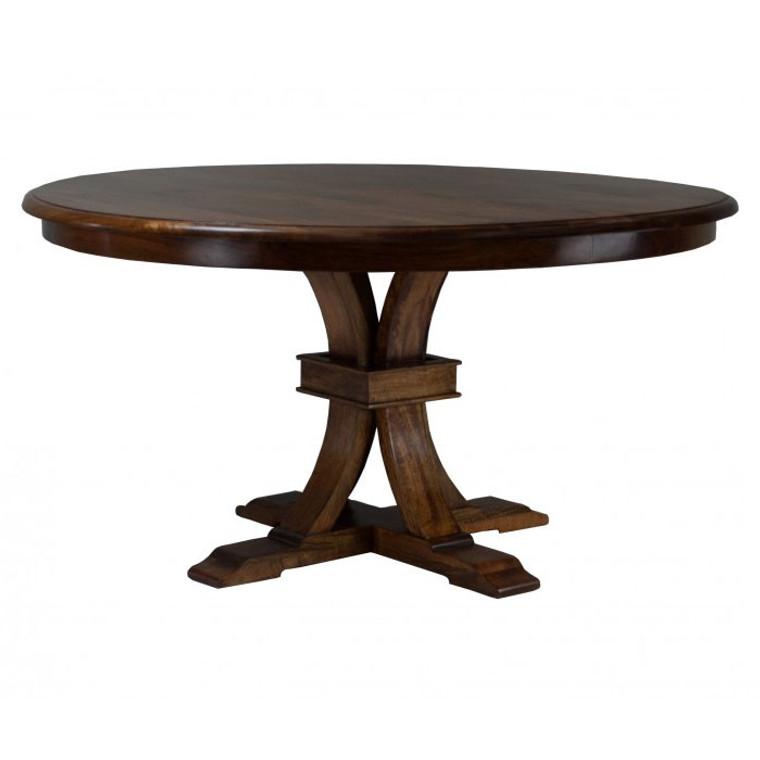 Florida Round Dining Table - Distressed Mango Teak