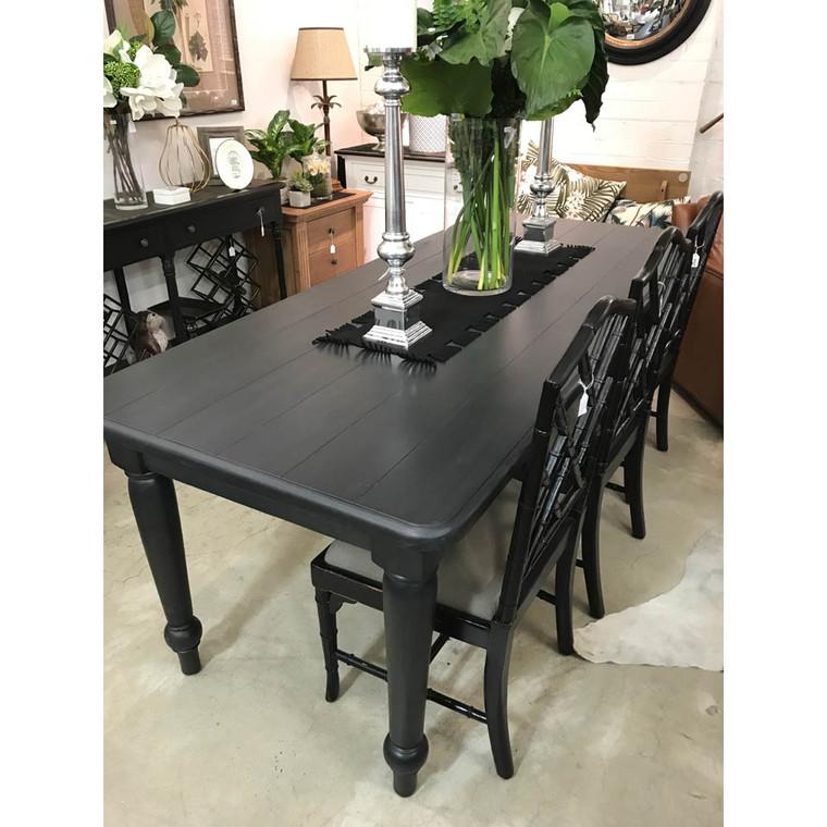 Farmhouse Dining Table 2.1m - Espresso (EX-DISPLAY)