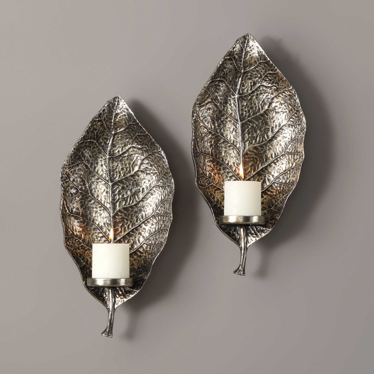 Zelkova Candle Sconces S/2 by Uttermost