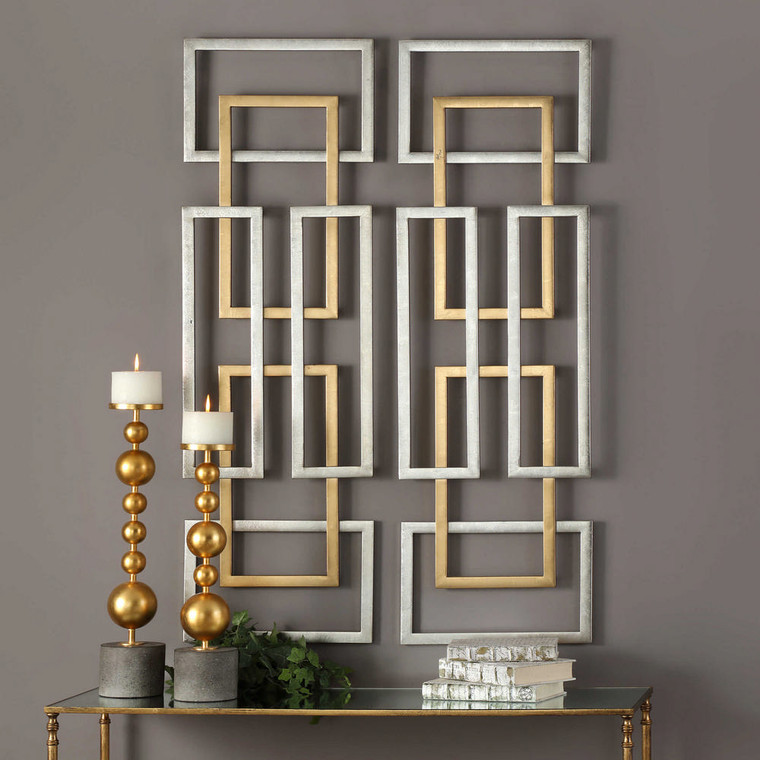 Aerin Metal Wall Panels S/2 by Uttermost