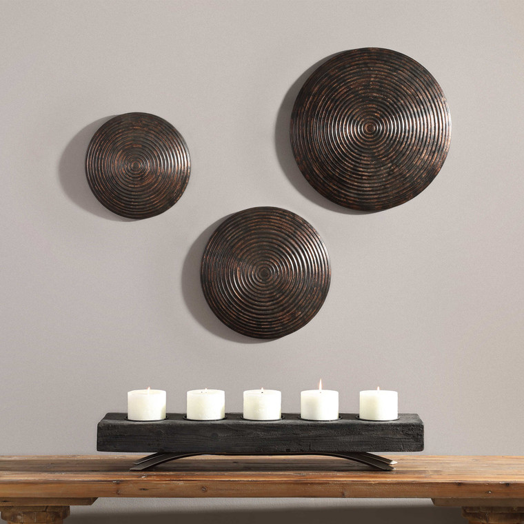 Hanneli Metal Wall Decor S/3 by Uttermost