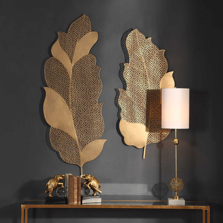Autumn Lace Metal Wall Decor S/2 by Uttermost