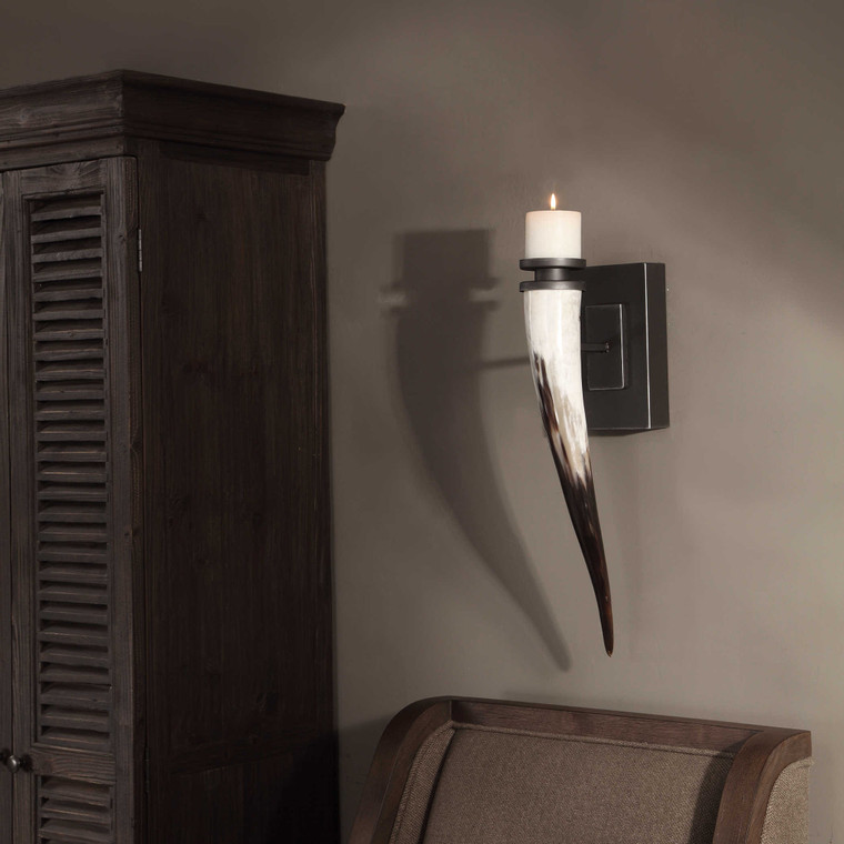 Romany Candle Sconce by Uttermost