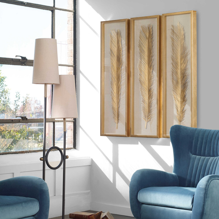 Palma Shadow Box S/3 by Uttermost