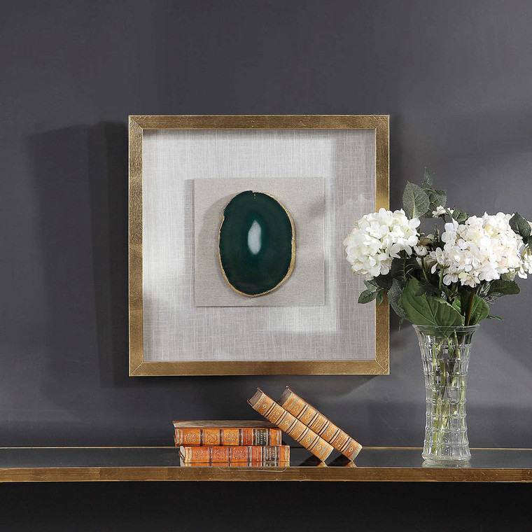 Keeva Agate Stone Shadow Box by Uttermost
