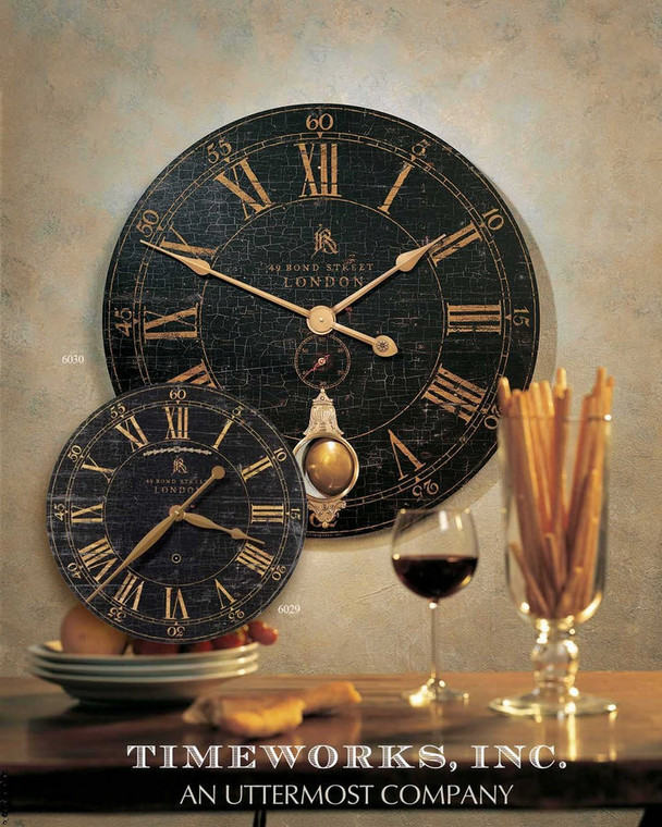 Bond Street 76cm Wall Clock by Uttermost