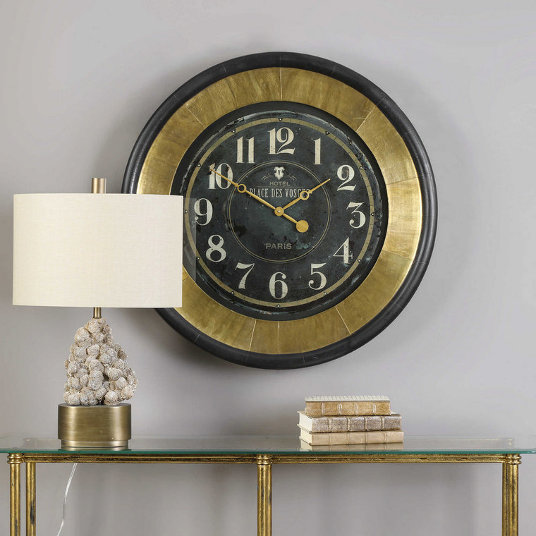 Lannaster Wall Clock by Uttermost