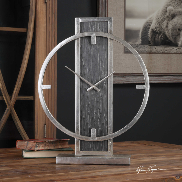 Nico Table Clock by Uttermost