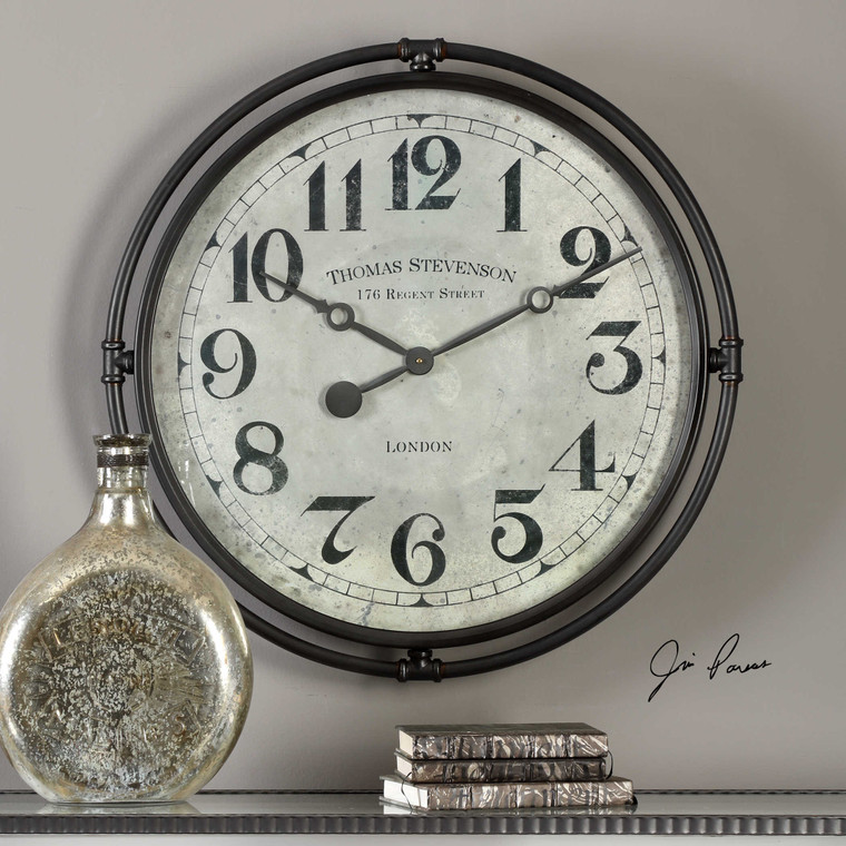 Nakul Wall Clock by Uttermost