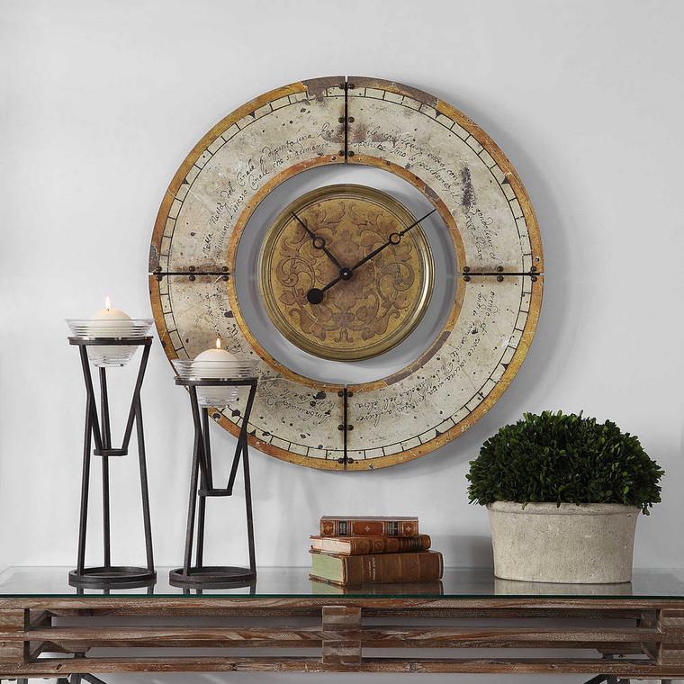 Ezekiel Wall Clock by Uttermost