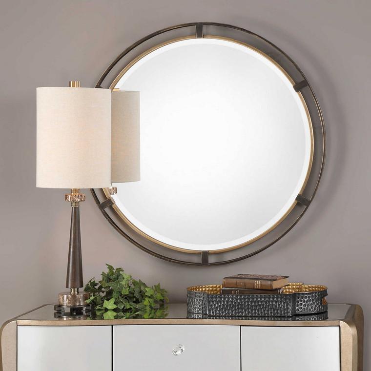 Carrizo Round Mirror by Uttermost