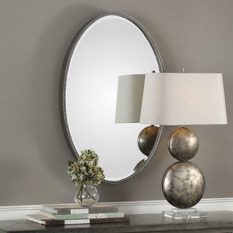 Giana Oval Mirror by Uttermost