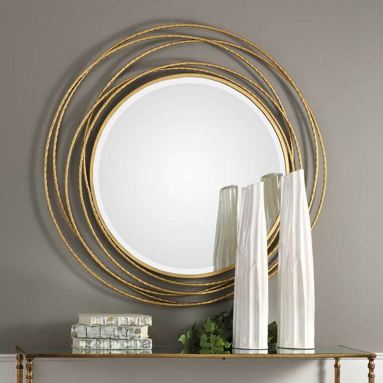 Whirlwind Round Mirror by Uttermost