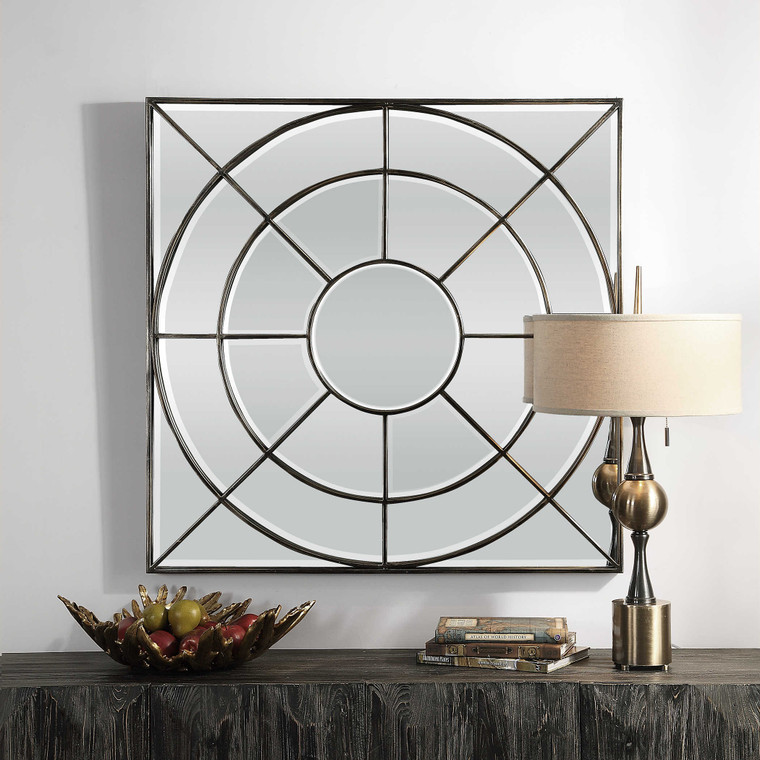 Oberon Square Mirror by Uttermost