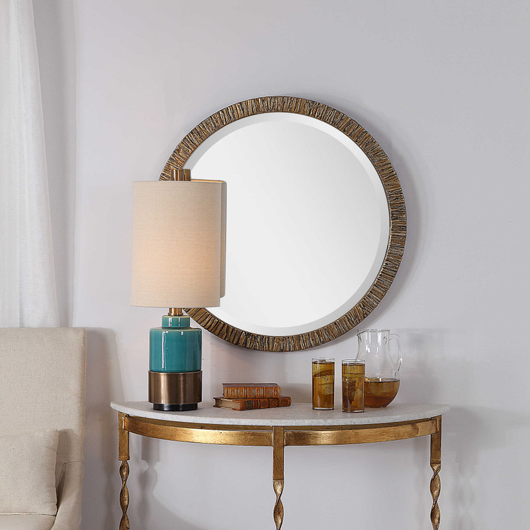Wayde Round Mirror by Uttermost