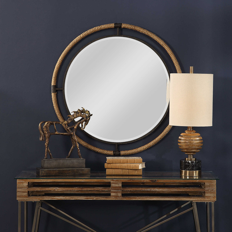 Melville Round Mirror by Uttermost