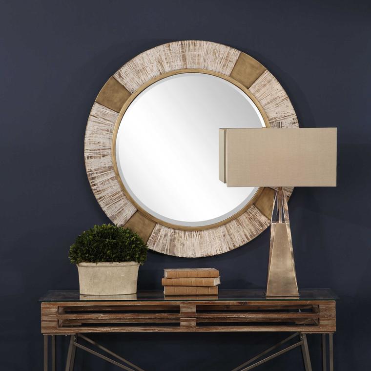 Reuben Round Mirror by Uttermost
