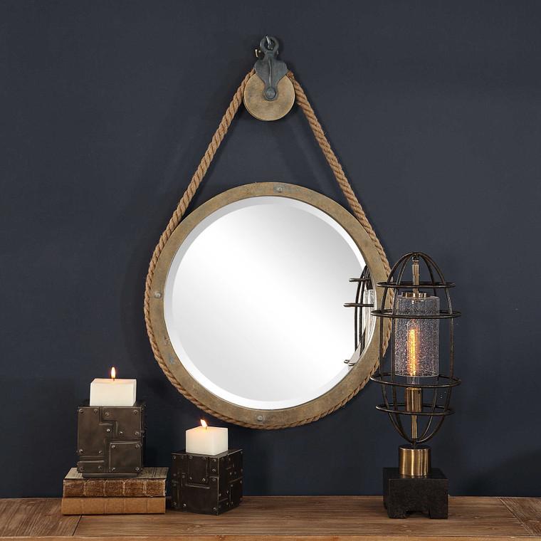 Melton Round Mirror by Uttermost