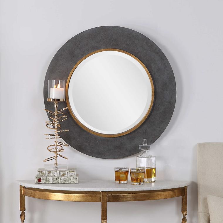 Saul Round Mirror by Uttermost