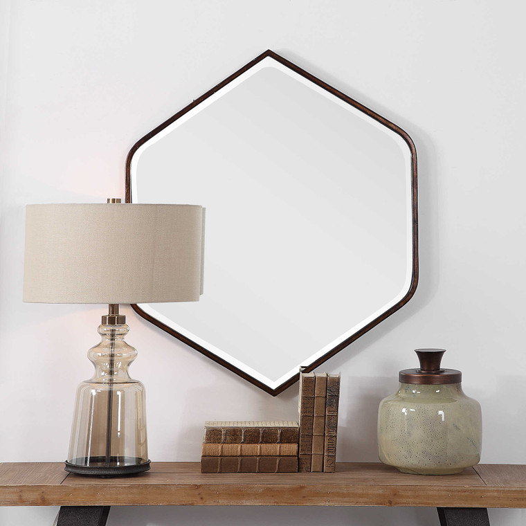 Magda Hexagon Wall Mirror by Uttermost
