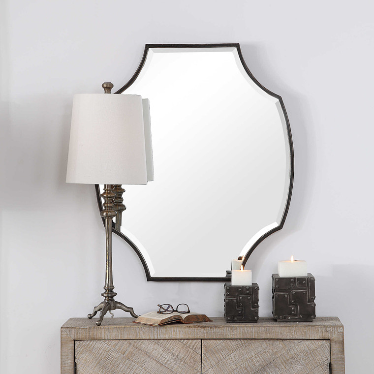 Ulalia Scalloped Mirror by Uttermost