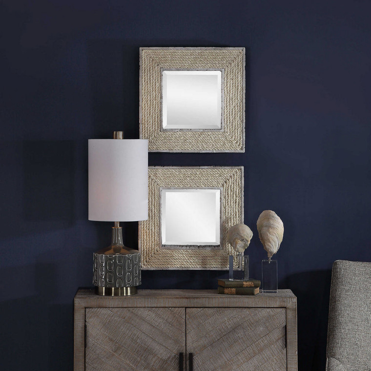 Cambay Square Mirrors S/2 by Uttermost