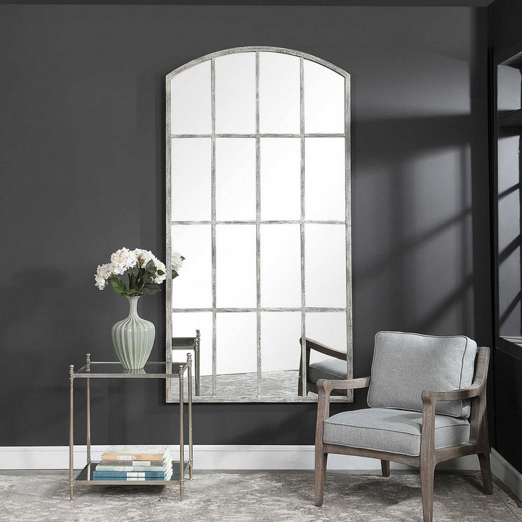 Amiel Ivory Arched Mirror by Uttermost