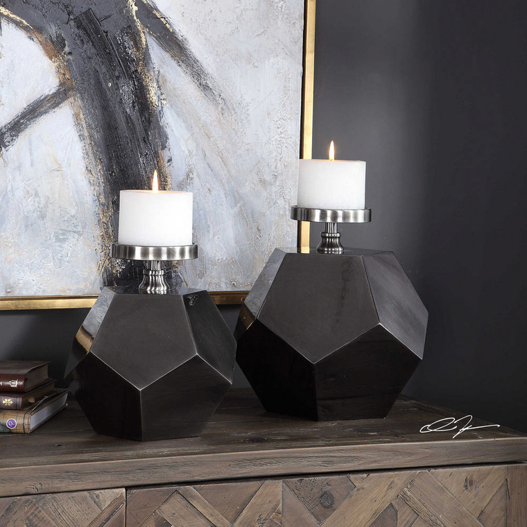 Dash Candleholders S/2 by Uttermost