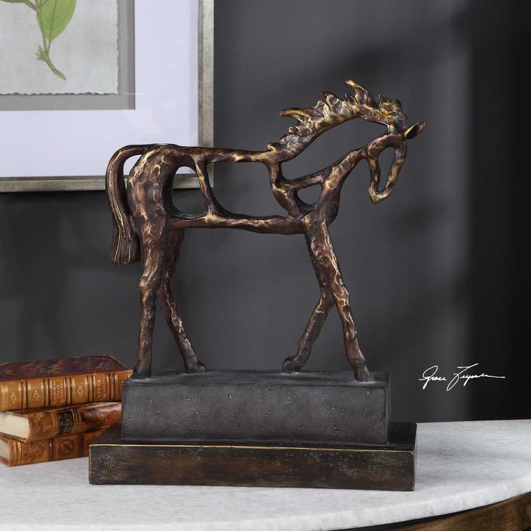Titan Horse Sculpture by Uttermost