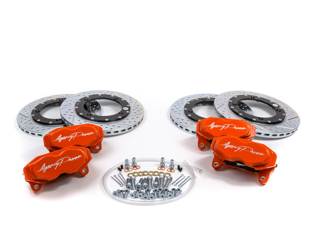 Agency Power Big Brake Kit Front and Rear Blue Ice Can-Am Maverick X3