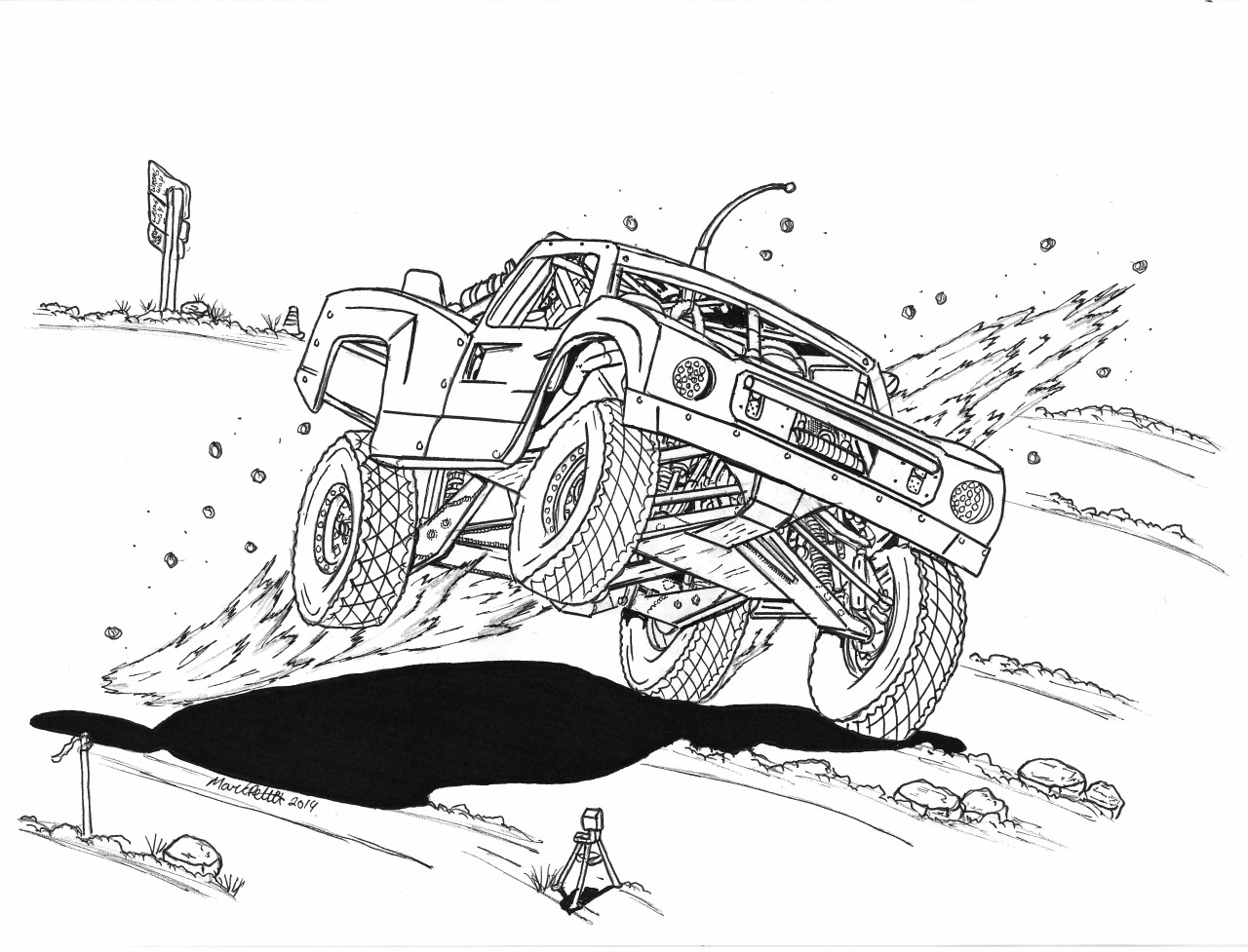 Marks In The Dirt Off Road Coloring Book Vol 2