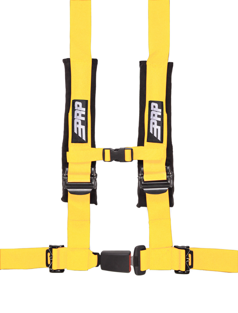 """PRP 4 Point 2/"""" Harness Seat Belts Automotive Style Latch Red Polaris RZR All"""