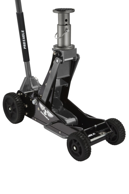 3 Ton Aluminum Floor Jack Big Wheel (black)