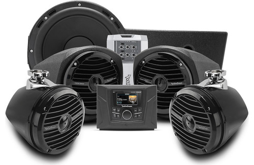 Polaris General Stage 4 400 watt stereo, front lower speaker, rear speaker, and subwoofer kit for select Polaris GENERAL™ models
