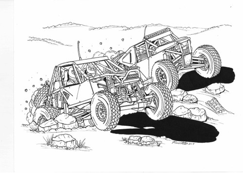 Marks In The Dirt Off-Road Coloring Book Vol-2